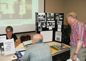 "The next Reunion of Upcountry Families is scheduled for April 25-27 and will include family history workshops, cemetery tours and historic family displays. Pictured is one of many historical family displays on the Southern Wesleyan University campus at last year's event, which is like a ""swap meet"" where people share family information."