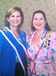 Pictured are National Society Daughters of the American Revolution President General Lynn F. Young and SE Division National Vice Chairman Mari R. Noorai.