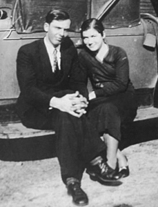 Courtesy James M. Pitts Lillian Cook Stewart is pictured with her husband to be, J. Furman Stewart, on the running board of his new Chevrolet many years ago.