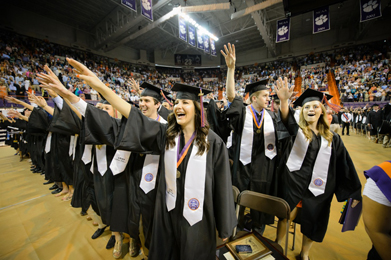 Around 1,300 Clemson University students will receive degrees when the school holds its annual December graduation ceremony Thursday.