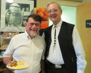 Dr, Tom Cloer with Hack Ayers in Hampton Inn, Caryville, TN