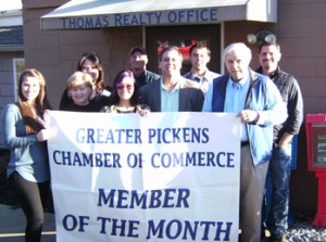 The February Pickens Chamber Member is Thomas Realty. Located at 500 West Main St. in Pickens, owner Michael Thomas and his staff  </p><p class=