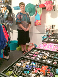 Steve Lorch/Courier Boutique owner Melissa Aiken poses with some of the items available at the Southern Girl Market in Pickens