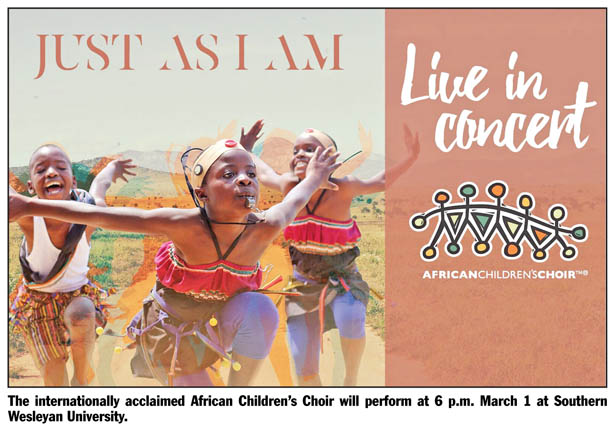 African Children's Choir coming to SWU March 1