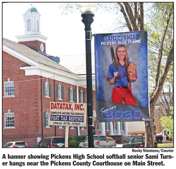 Pickens honors senior athletes with banners along Main Street